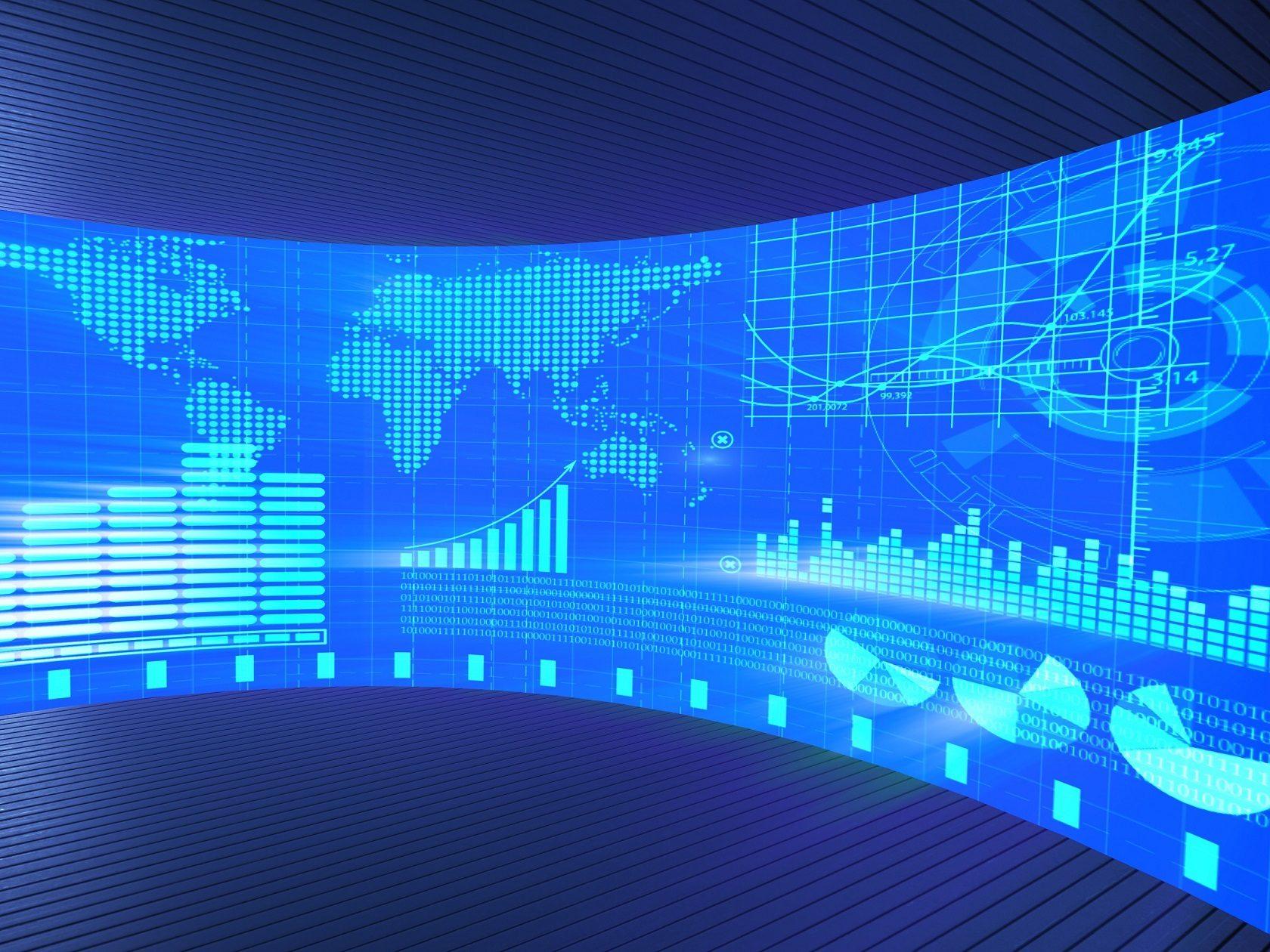 quantitative algo trading conceptual dashboard