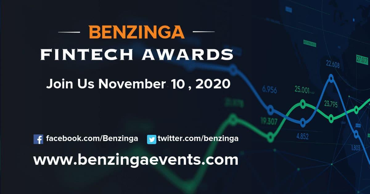 CloudQuant Benzinga Global Fintech Awards – 10th November 2020